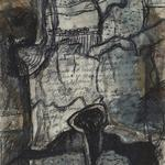 "Notes from Florence-12"" x 15"" -solarplate etching and monotype"