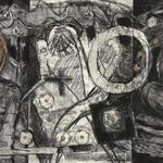 "Rich Man, Poor Man, Beggar Man- 10"" x 21""- silk aquatint, monotype, collagraph, drawing"